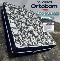 Título do anúncio: Cama CASAL DE espuma Ortobom