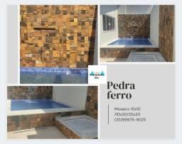 Mosaico de pedra ferro ,revestimentos naturais