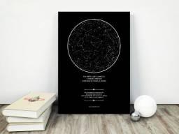 Quadro Decorativo Mapa do Ceu - Dia dos Namorados - Aceitamos cartoes/PIX