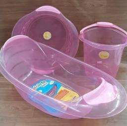 Título do anúncio: Kit banheira balde e bacia para bebê adoleta