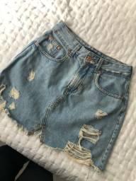 Saia jeans tamanho 34