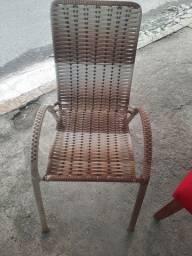 Cadeira fixa de fibra