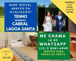 Tenho os + baratos Cabral e Lagoa Santa Casa 3 quartos Top 890 mil Ap de 2 c Suíte 149mil!