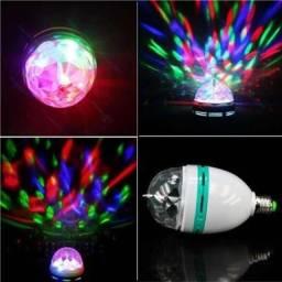Lâmpada colorida giratória (jogo de luzes)