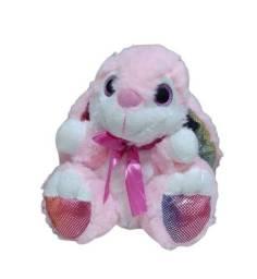 Coelha com Laço Rosa Br Machine