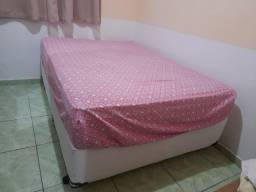 Colchão impermeabilizado + cama box casal