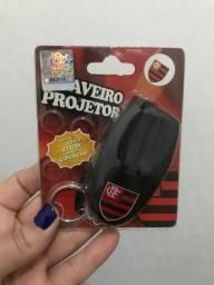 Chaveiro projetor Flamengo com som