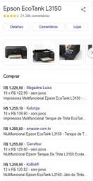 Epson Ecotank wi-fi L3150