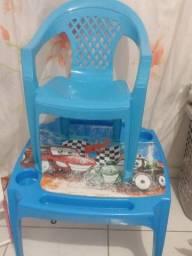 Título do anúncio: Mesinha com cadeira infantil