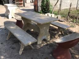 Artefatos de concreto para sua ária de lazer e sítios