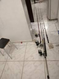 Vara de pesca com Marinete e mais som de carro