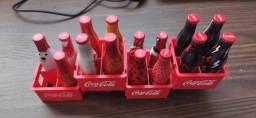 Coleção de garrafas Coca Cola