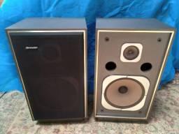 Caixas de som vintage sharp - p/ 3 em 1 anos 80