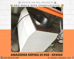 Título do anúncio: Amassadeira Rápida 25 KGS Monofásica - Com garantia | Matheus