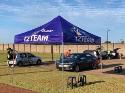 Tendas e flag Banner