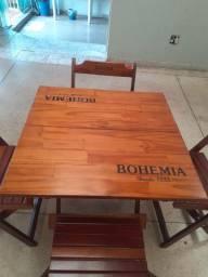 Tenho 6 dessas mesas todas com as cadeiras