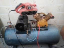 Compressor de ar 150 litros +lixadeira WhatsApp 13 991542226