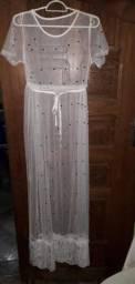Vestido de renda branco