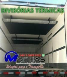Divisor térmico de baú refrigerado divisória Mathias Implementos