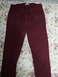 Calça jeans vermelha marisa