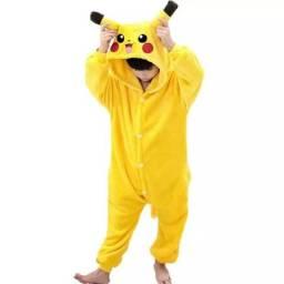 Pijama Pikachu macacão kigurumi Pokémon importado alta qualidade