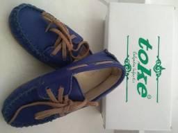 Sapato mocassim azul