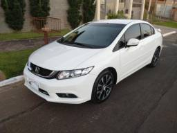 Honda Civic LXR 2.0 com Central Multimídia Branco IPVA 2019 Pago - 2015