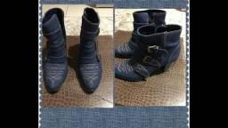 Bota Cano curto Arezzo jeans número 36