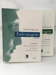 Livro Tratado Prático de Enfermagem Volumes 1 e 2 - Usado