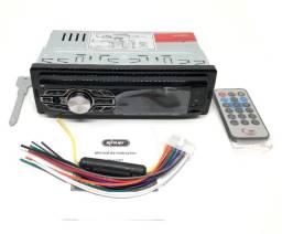 Radio Automotivo Bluetooth Som Carro Mp3 Player Usb Sd Carregador USB Knup Novo na Caixa