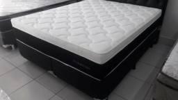 Promoçao Cama Box + Colchao PlumaStar Queen Size 158x198 A Pronta Entrega