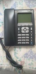 Telefone Com Identificador/bloqueador Capta Phone Top Ibratele Preto/prata 8052