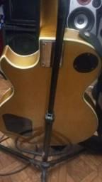 Guitarra benson les paul em ótimo estado dourada
