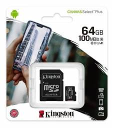Micro Cartão Sd 64Gb Kingston Canvas Select Plus 100mbs