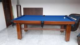 Mesa de Bilhar Diver Slim Maciça Tecido Azul Modelo JJD3054