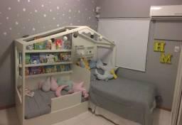 Casinha em MDF para quarto infantil, crianças, filhos.