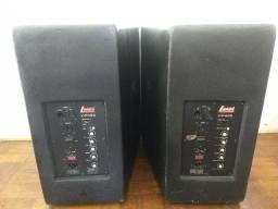 Vendo ou Troco Caixas de Som Profissional - 2 Caixa Ativa e 2 Passivas Leacs VIP400