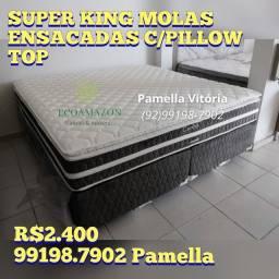 Título do anúncio: Cama SUPER king molas ensacadas