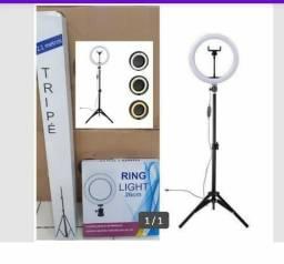 Ring Light com suporte para celular e tripé