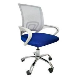 cadeira escritorio cinza/azul