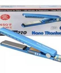 Chapinha de cabelo LadylissPRO Nano Titanium azul 110V/220V<br><br>