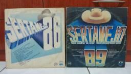 Lote 2 Lps Disco de Vinil Sertanejo 86 e 89 (Coletânea)