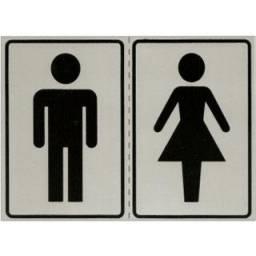 (WhatsApp) placa de sinalização acesso - masculinofeminino