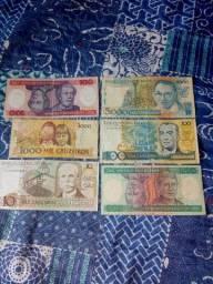 Tenho um lote debnotas antigas e uma moeda de 1 real 1994 para vender
