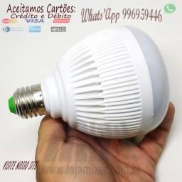 Lampada Musical Caixa De Som Bluetooth Led Rgb Com Controle-c03