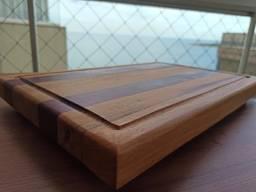 Tábua de cortes artesanal em madeira