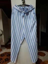 Calça clochard pantalona tamanho G