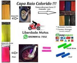 Capa Raio Colorido Universal - Inovação para sua moto - Diversas cores para bike e moto