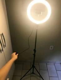 Ring Light Led Iluminador 26cm 10 Polegadas Completo 2,1m Tripé 210cm