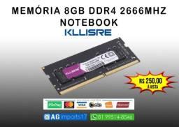 Título do anúncio: Memória Notebook - 8gb DDR4 2666mhz  - Kllisre